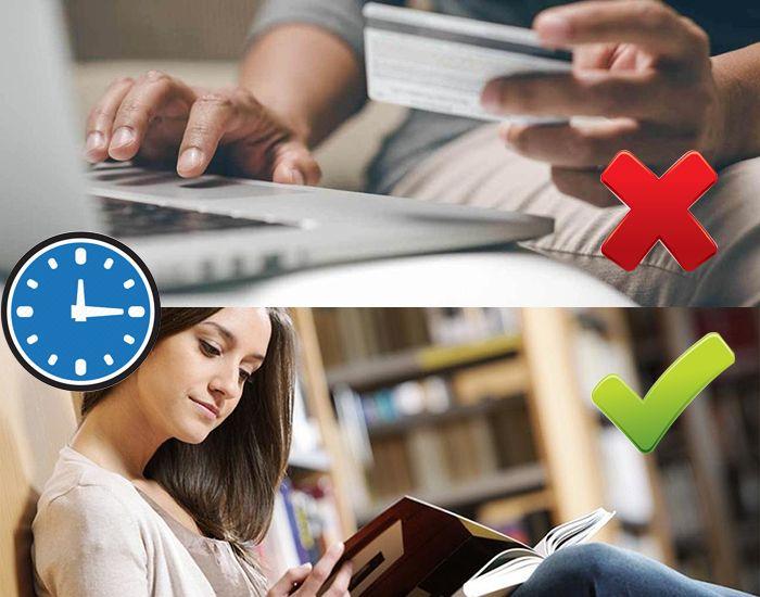 Thay vì mua sắm online trước giờ đi ngủ, hãy đọc sách