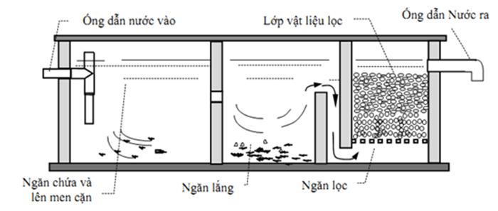 Nguyên lý hoạt động của bể phốt
