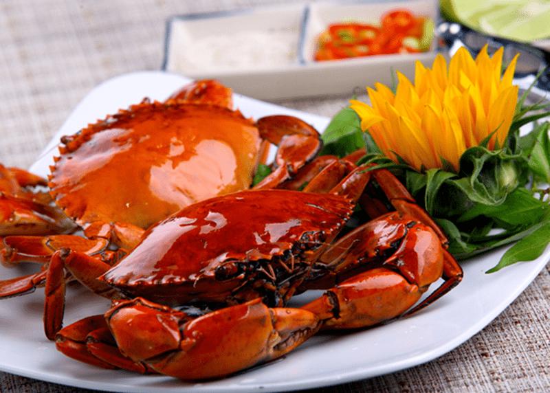 Cua biển hấp nước dừa thơm nồng, bổ dưỡng