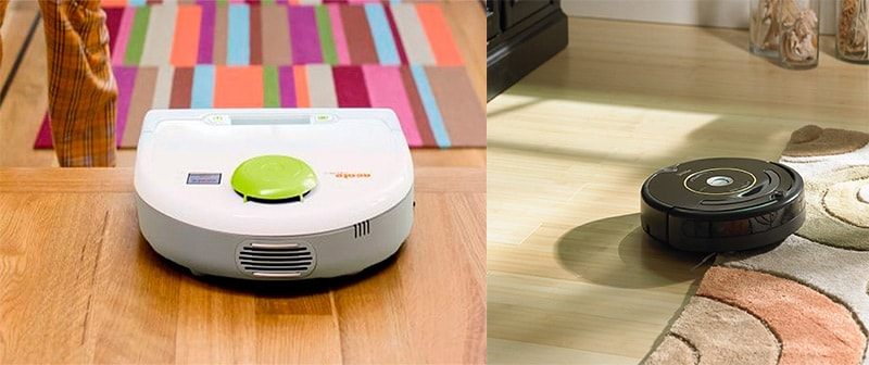 Điểm giống nhau giữa robot hút bụi Neato và iRobot