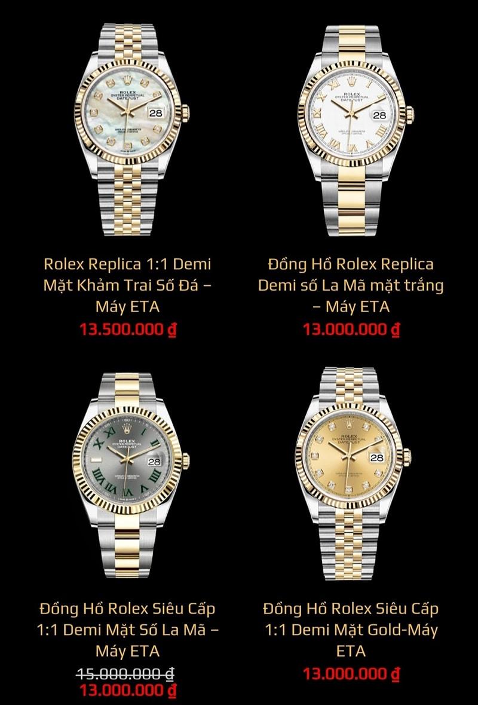 Các mẫu đồng hồ Replica thoả mãn niềm đam mê của nhiều quý ông